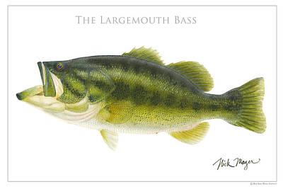 Largemouth Bass Original by Nick Mayer