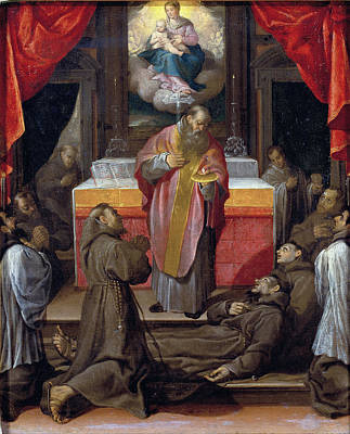 Agostino Carracci Painting - The Last Communion Of Saint Francis by Agostino Carracci