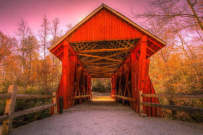 Campbells Covered Bridge Photograph - The Last Covered Bridge by Jeff Hammond