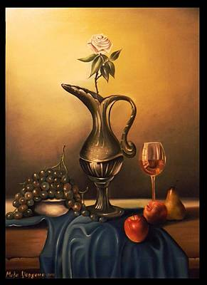 The Last Glass Of Vine Original by Maja Kostoska