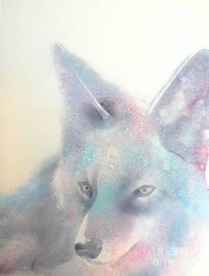 Wolf Watercolor Painting - The Last Hunt by Robert Hooper