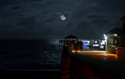 Moonlit Night Photograph - The Last Outpost by Laura Fasulo