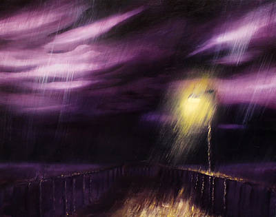 Lightpost Painting - The Last Pier by Trevor Inkwell