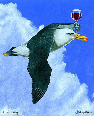 Albatross Painting - the last Shiraz... by Will Bullas