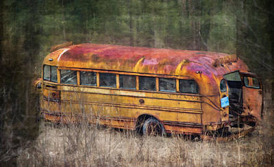 Old School Bus Photograph - The Last Stop by Kathy Jennings