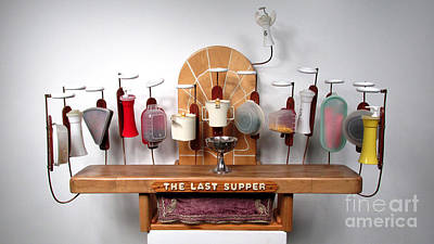 Czappa Sculpture - The Last Supper With Tupperwear by Bill Czappa