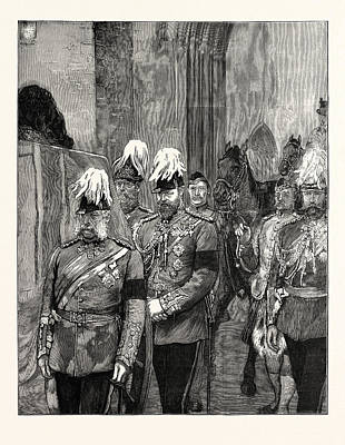 The Late Duke Of Albany Ahe Arrival At Windsor April 4 Print by English School