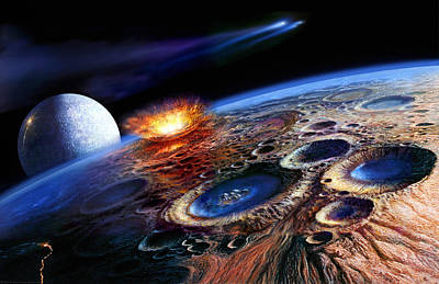 Moon Painting - The Late Heavy Bombardment by Don Dixon