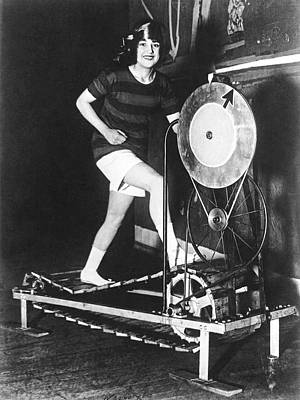 The Latest Exercise Machine Print by Underwood Archives