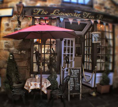 Garden Scene Mixed Media - The Lavender Tea Rooms - Peak District - England by Doc Braham