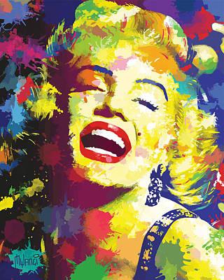 Marilyn Monroe Print by Anthony Mwangi