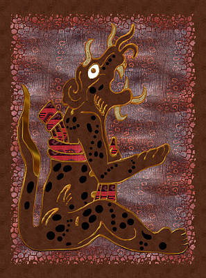 The Leopard Man Mayan Print by Sharon and Renee Lozen