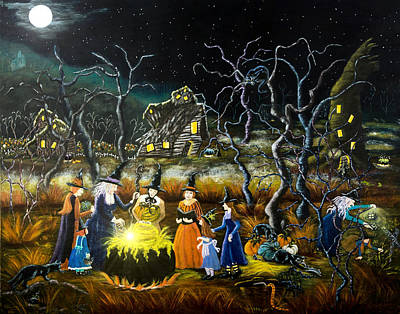 Haunted House Painting - The Lesson by Christine Altmann
