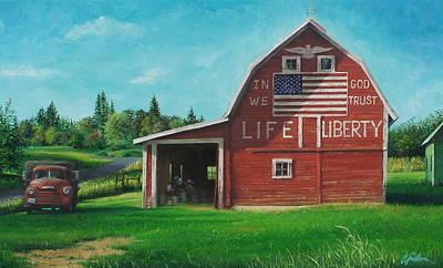 The Liberty Barn Print by Craig Shillam