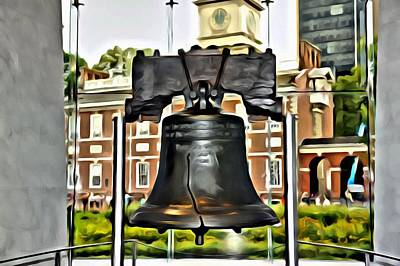 Freedom Painting - The Liberty Bell by Florian Rodarte