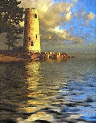 Manipulation Photograph - The Lighthouse On Pelee Island Ontario by Mario Carini