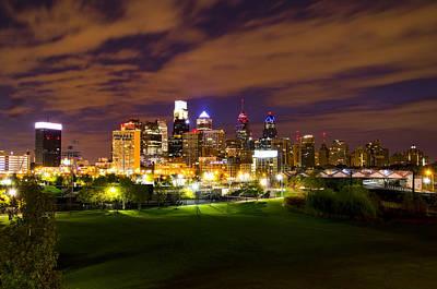 Phillies Digital Art - The Lights Of Philadelphia by Bill Cannon