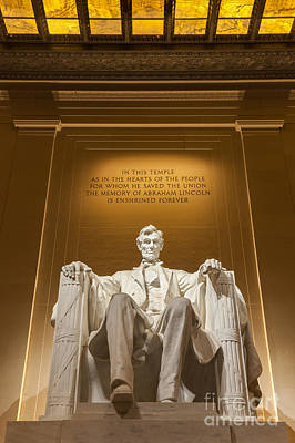 The Lincoln Memorial Print by Henk Meijer Photography