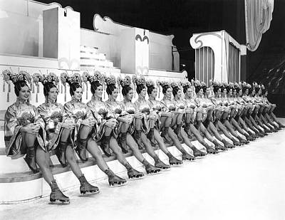 In A Row Photograph - The Lineup Of Glamour-icers by Underwood Archives