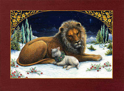 The Lion And The Lamb Print by Lynn Bywaters