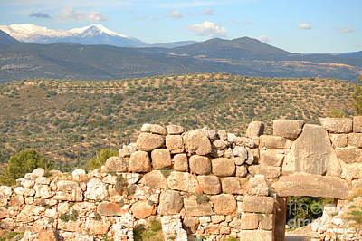 Architectural Photograph - The Lion Gate At Mycenae by Deborah Smolinske