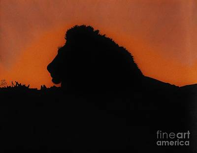 African Big Cats Drawing - The Lion King by D Hackett