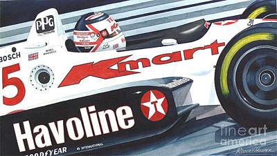 Indy Car Painting - The Lion by Robert Hooper