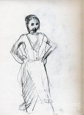Whistler Drawing - The Little Dancer by Whistler Kenworthy