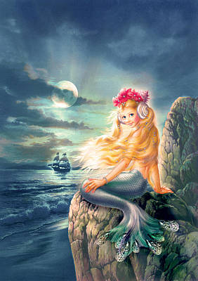Little Mermaid Photograph - The Little Mermaid by Zorina Baldescu