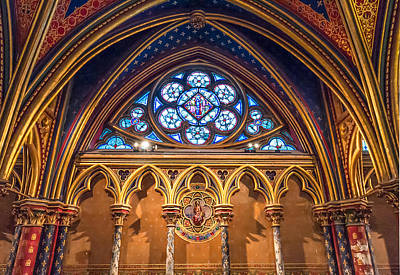 Paris Photograph - The Little Window In Sainte-chapelle  by Tim Stanley