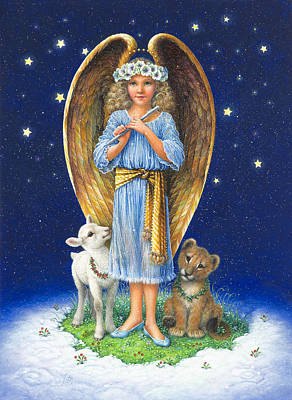 The Littlest Angel Print by Lynn Bywaters