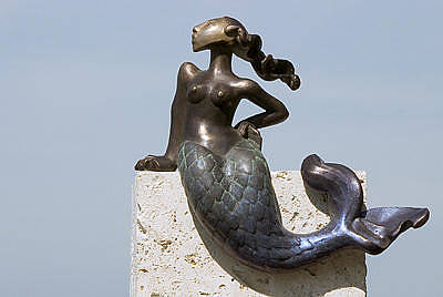 Little Girl Sculpture - The Littlest Mermaid by NIna Winters