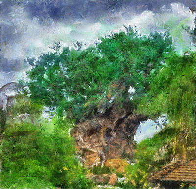 Merchandise Mixed Media - The Living Tree Wdw Photo Art by Thomas Woolworth