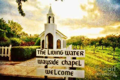 The Living Water Wayside Chapel Print by Scott Pellegrin