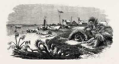 Zambesi River Drawing - The Livingstone Expedition In Africa Dr by English School