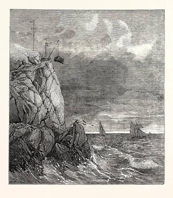 The Lizard Serpentine Signal-staff Quarry Near Cadgwith Print by English School