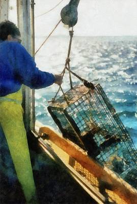 The Lobsterman Print by Michelle Calkins