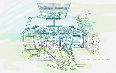 The Lockheed L-1011 Tristar Cockpit  Original by Don Kuing