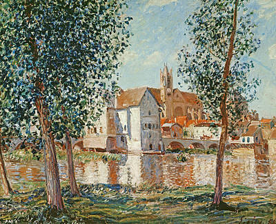 The Loing At Moret September Morning Print by Alfred Sisley