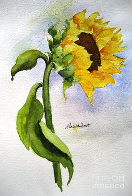 Sunflower Watercolor Painting - Random Acts Of Kindness by Maria Hunt
