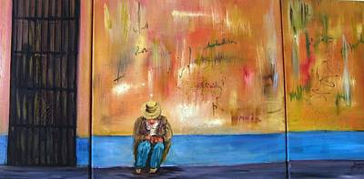 Landscape Painting - The Lonely Cuban by Doris Cohen