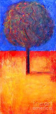 Trees Painting - The Lonely Tree In Autumn by Cristina Stefan