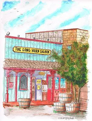 The Long Horn Saloon In Route 66, Williams, Arizona Print by Carlos G Groppa