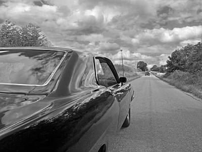 The Long Road Home - Ford Torino Cobra Jet Print by Gill Billington