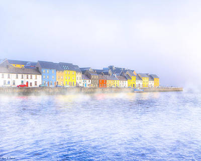 The Long Walk In A Galway Fog Print by Mark Tisdale
