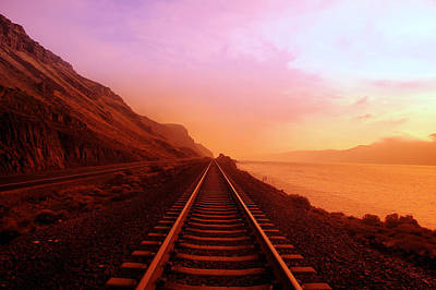 Train Photograph - The Long Walk To No Where  by Jeff Swan
