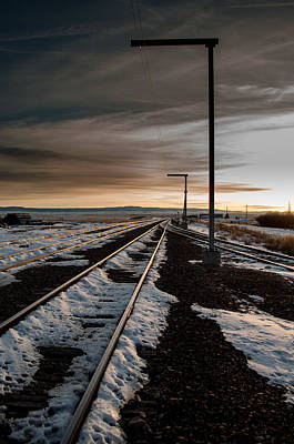 Train In The Winter Photograph - The Long Way Home by Fran Riley