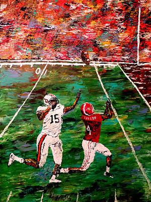 Bama Painting - The Longest Yard - Alabama Vs Auburn Football by Mark Moore