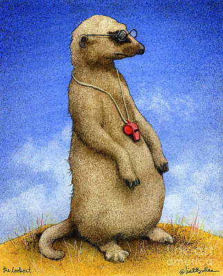 Meerkat Painting - The Lookout... by Will Bullas
