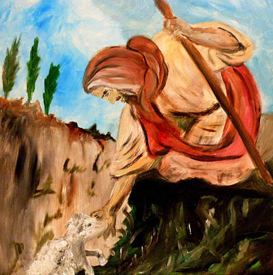 The Lord Is My Shepherd Print by Amanda Dinan